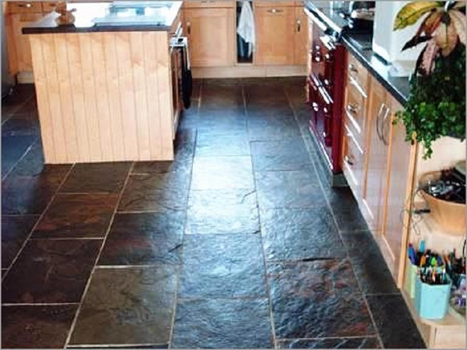 slate tiles for kitchen floor photo - 2