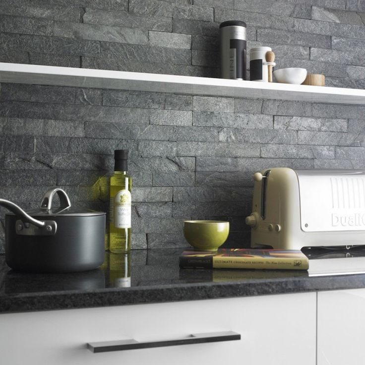 slate tiles for kitchen wall photo - 2