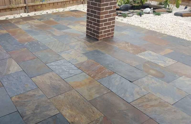 slate tiles for landscaping photo - 4