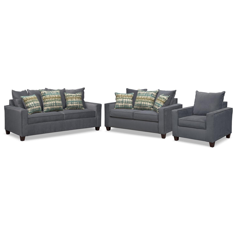 sleeper sofa and loveseat set photo - 1