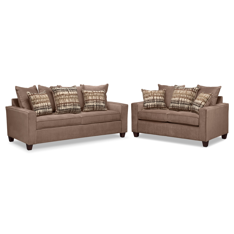 sleeper sofa and loveseat set photo - 2