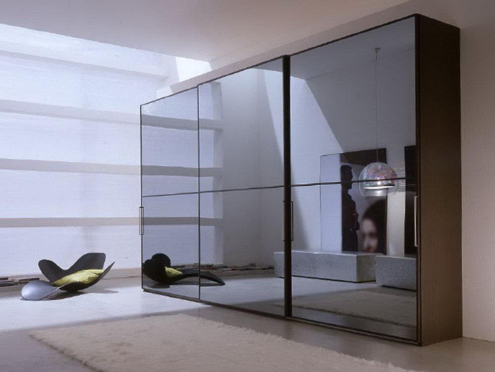 sliding glass mirrored closet doors photo - 3