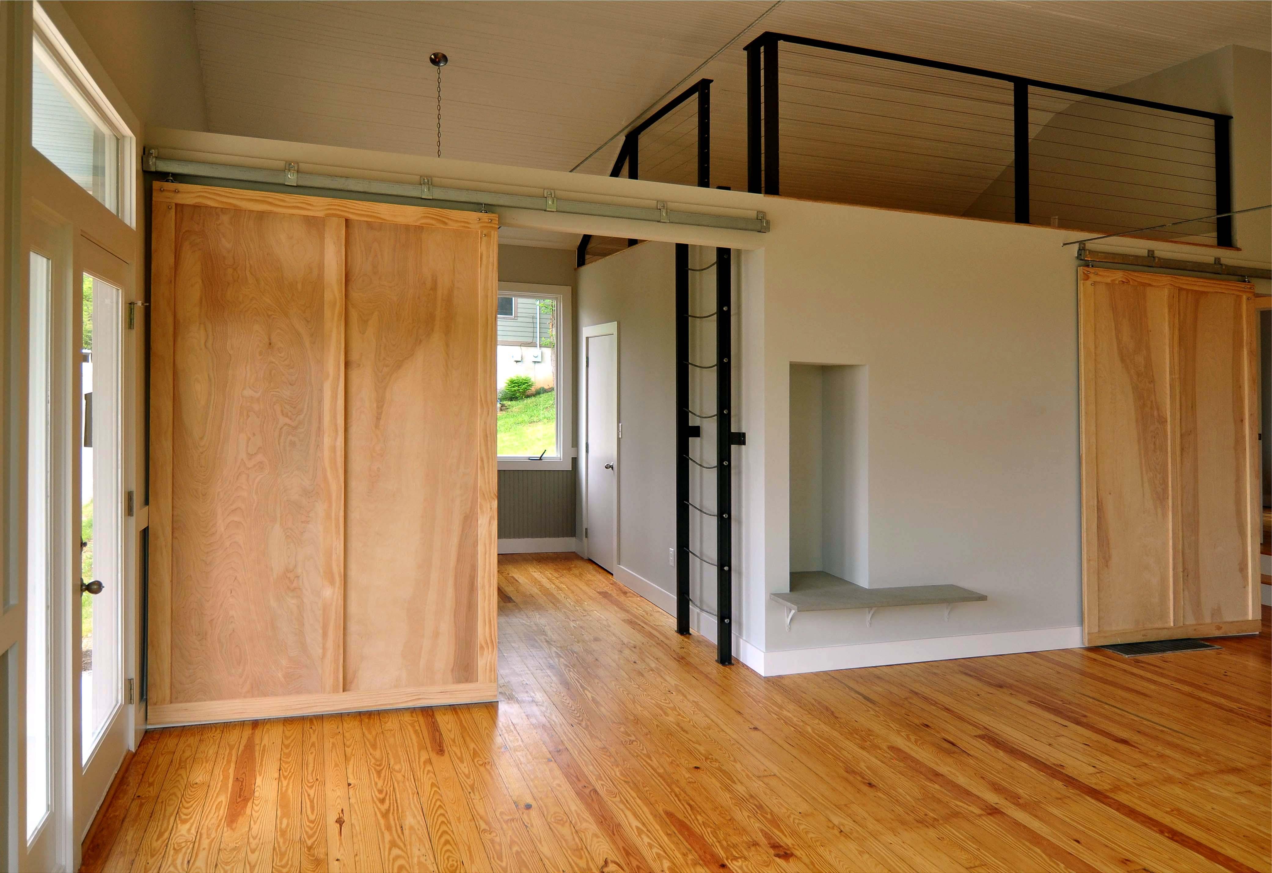 sliding loft doors interior photo - 5