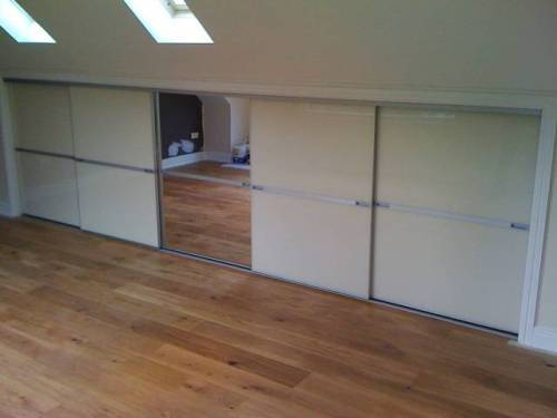 sliding loft doors interior photo - 6