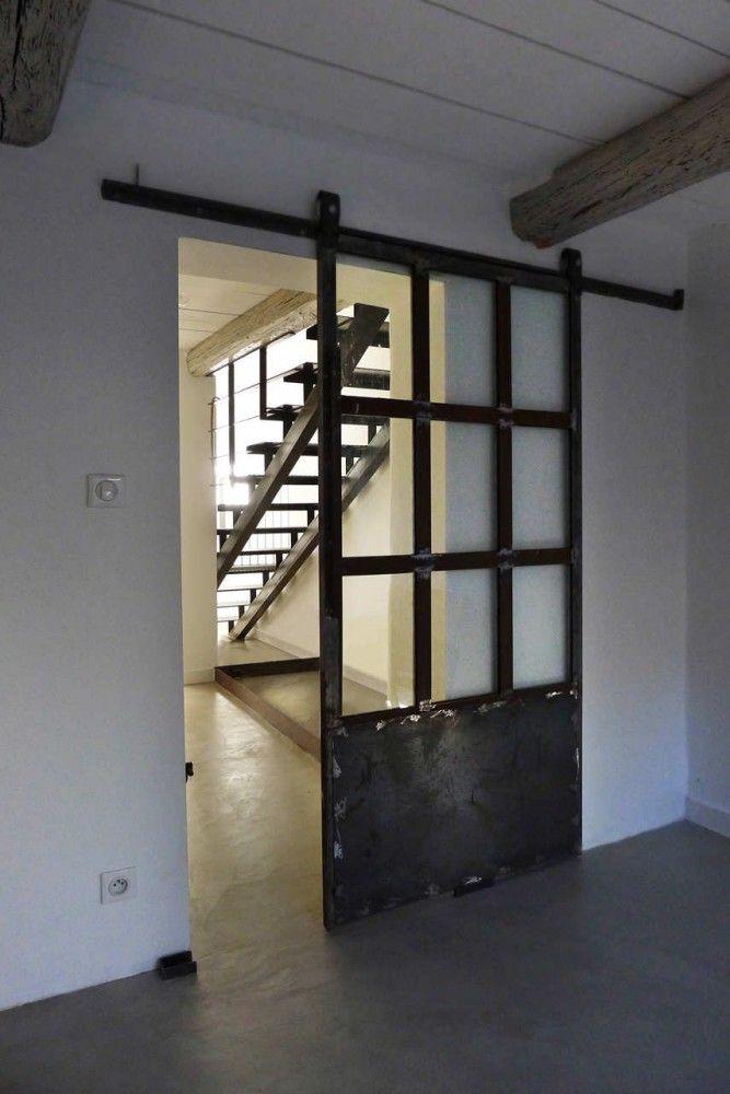 sliding loft doors interior photo - 7