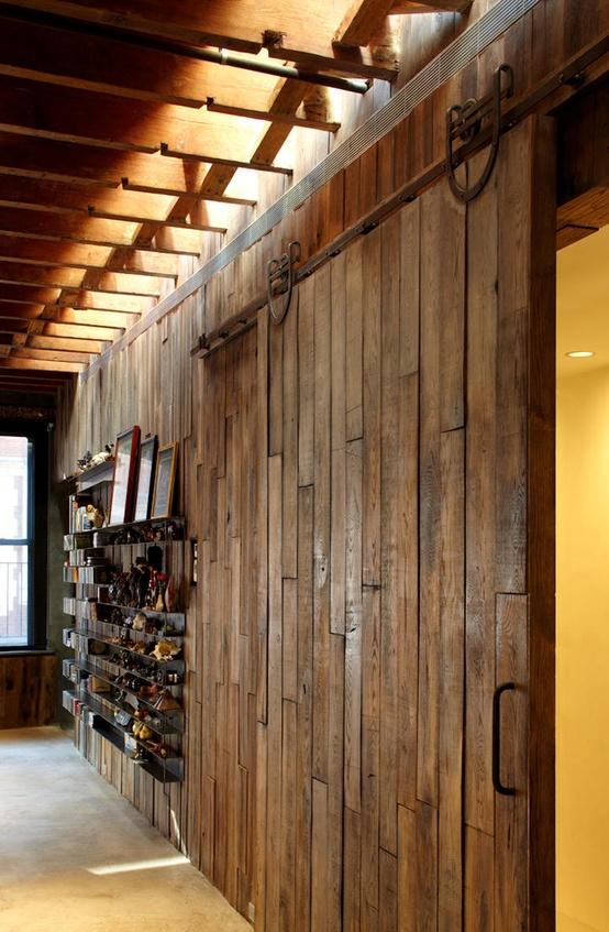 sliding loft doors interior photo - 9