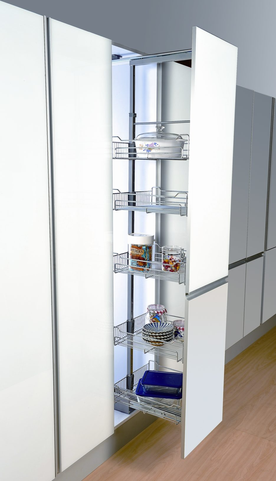 sliding pantry shelving systems photo - 2