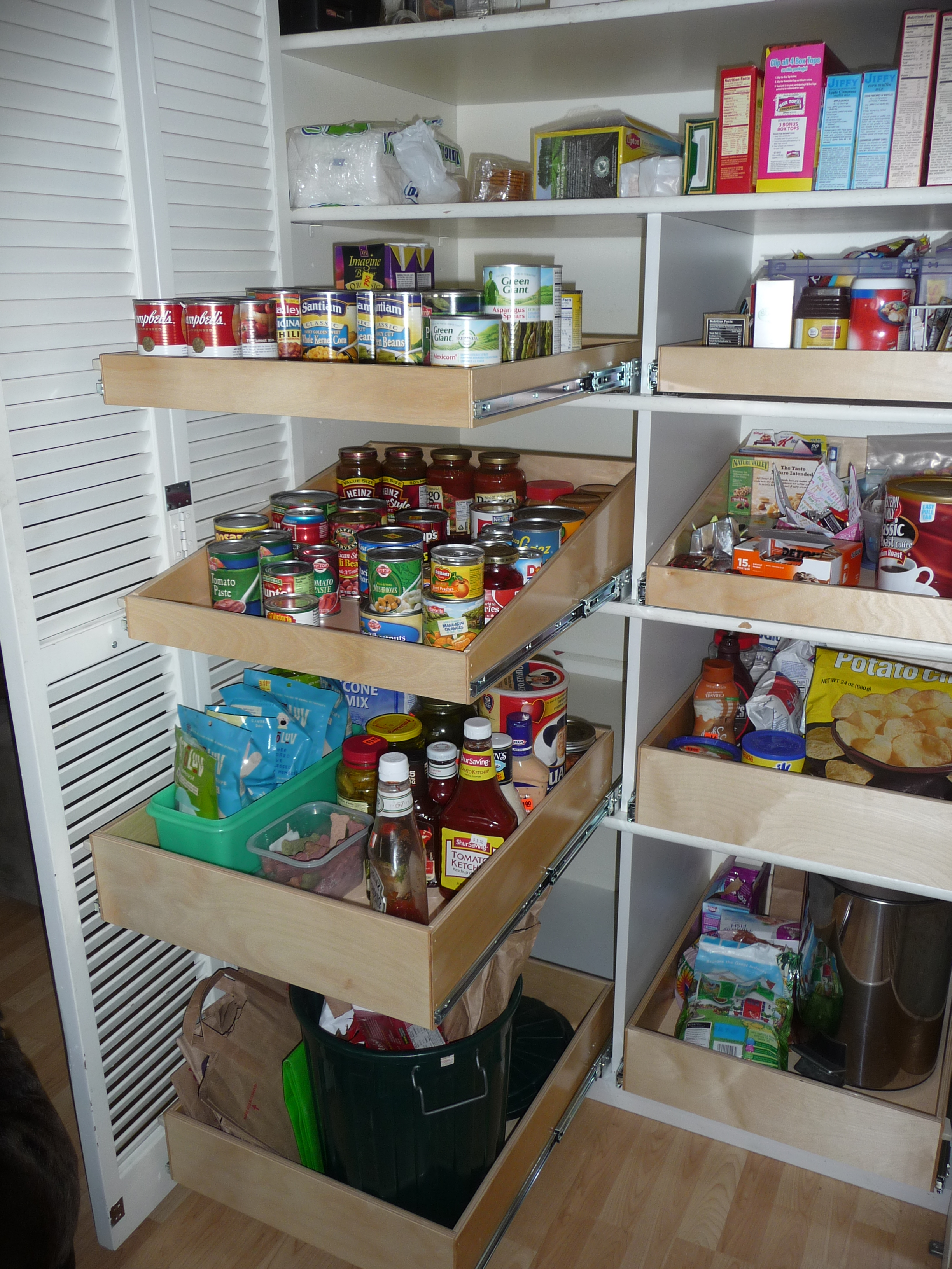 sliding pantry shelving systems photo - 7