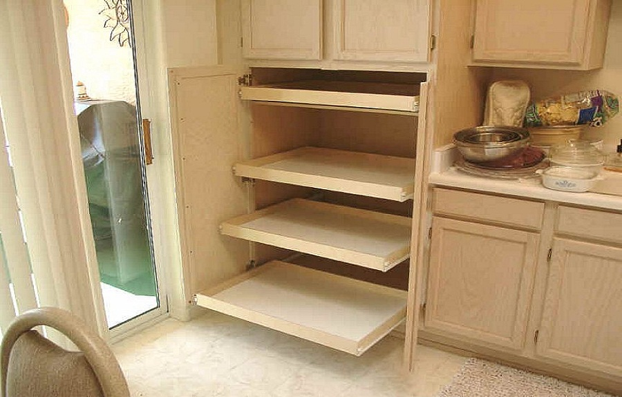 sliding pantry shelving systems photo - 9