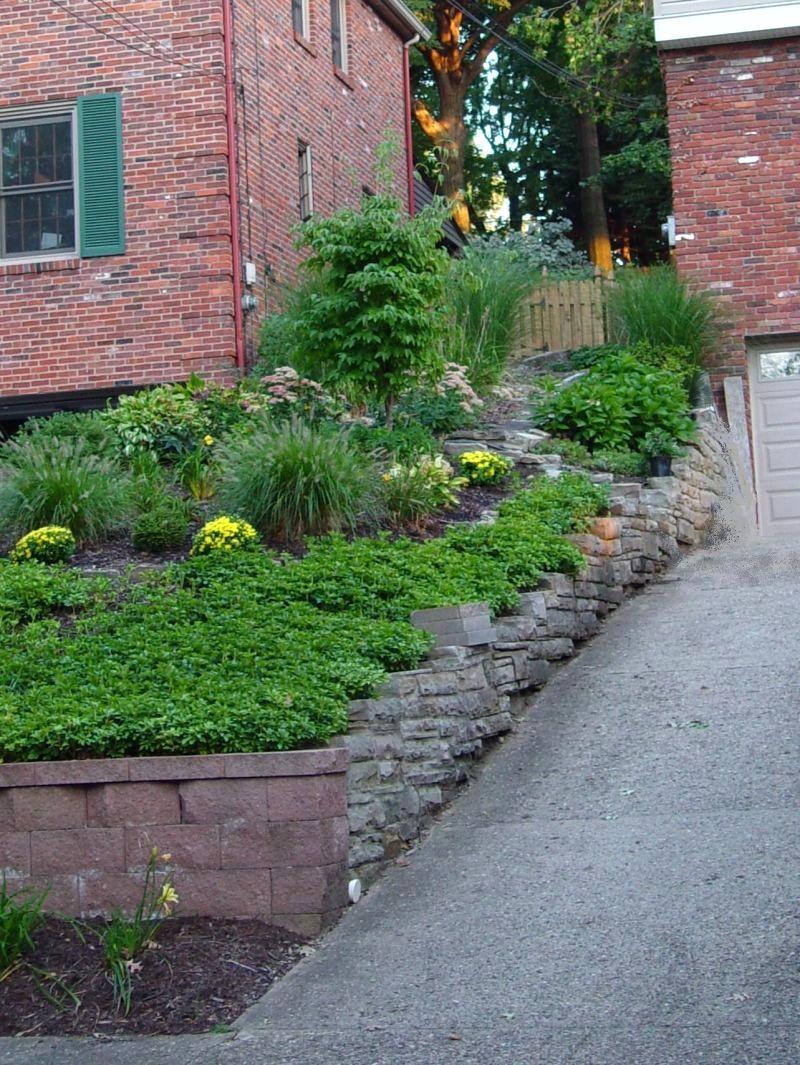 sloped front garden ideas photo - 1