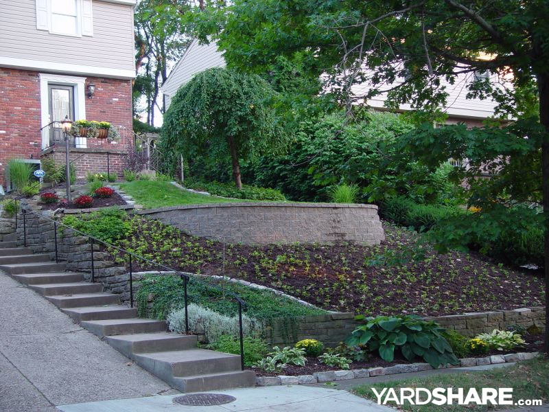 sloped front garden ideas photo - 3