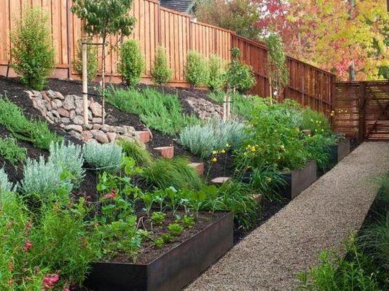 sloped front garden ideas photo - 5