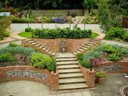 sloped garden ideas photo - 1