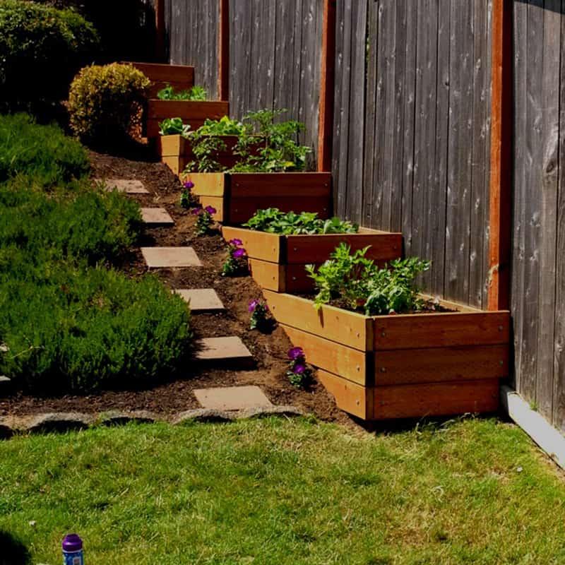 sloped garden ideas photo - 4