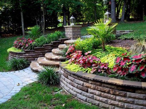 sloped garden ideas photo - 6