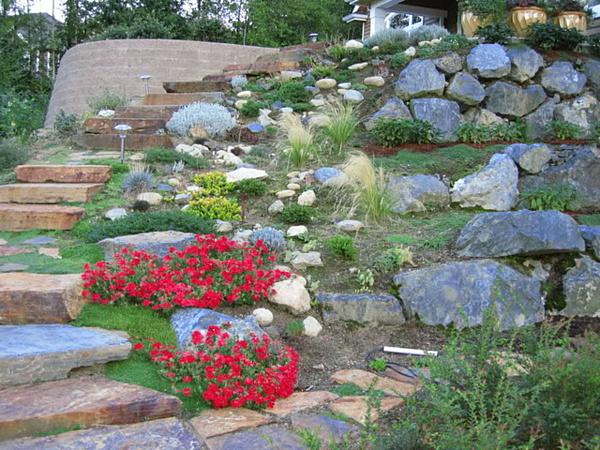 sloped rock garden ideas photo - 1