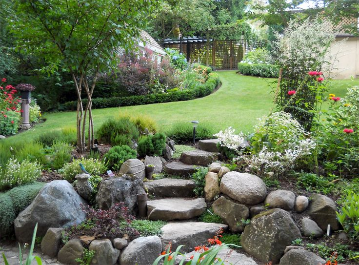 sloped rock garden ideas photo - 4