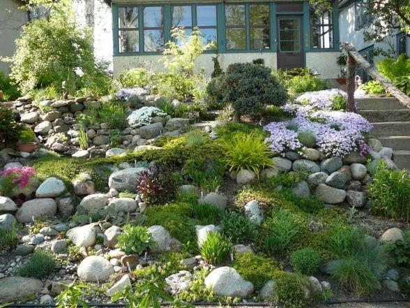 sloped rock garden ideas photo - 5