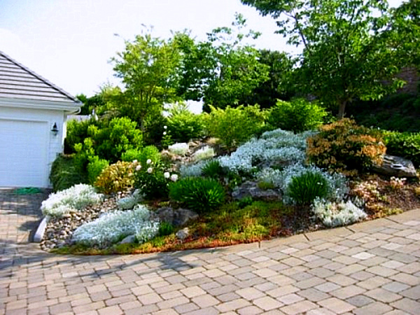 sloped rock garden ideas photo - 9