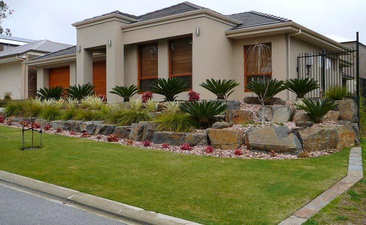 sloping front garden design ideas photo - 4