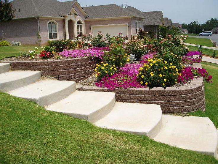sloping front garden design ideas photo - 9