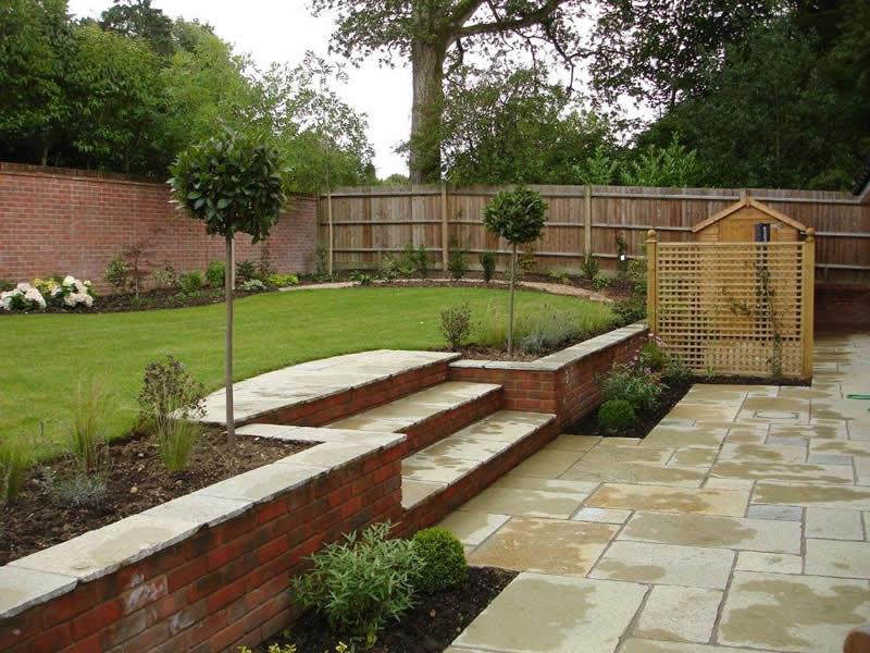 Sloping garden ideas photos | Hawk Haven