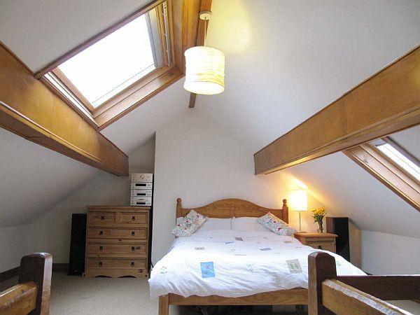 Exceptional Small Attic Bedroom Design Ideas Photo   3