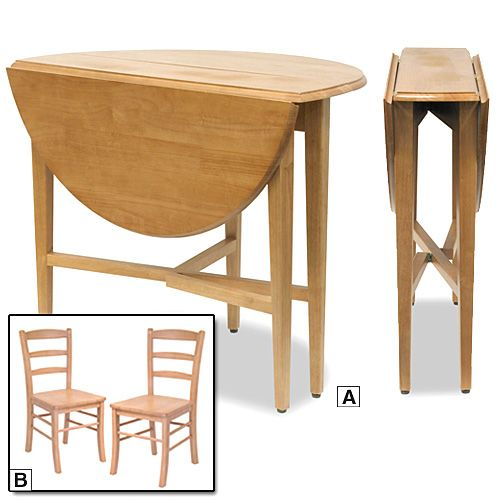 small folding kitchen table and chairs photo - 1