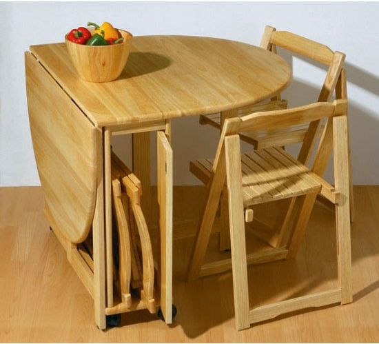 small folding kitchen table and chairs photo - 2