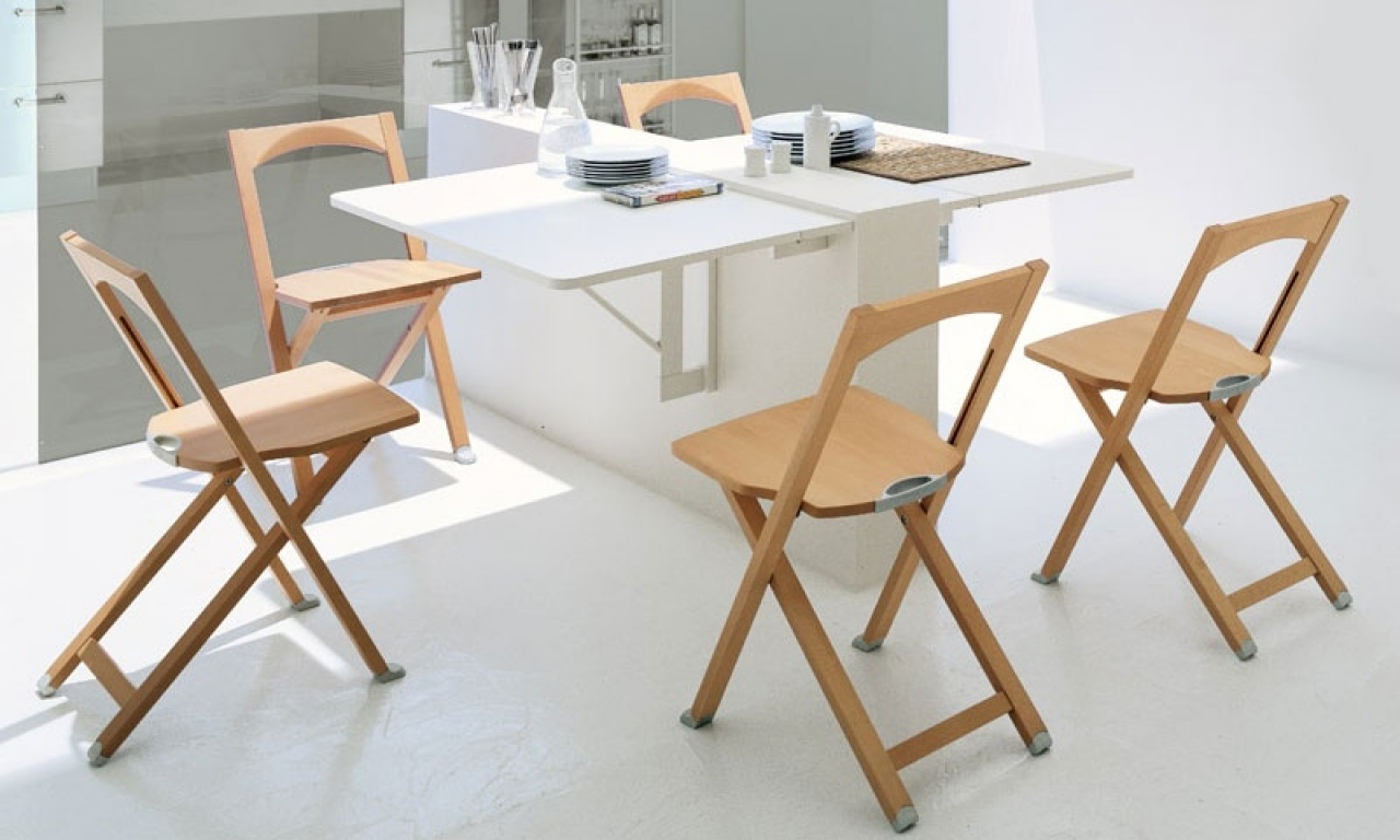 small folding kitchen table and chairs photo - 4