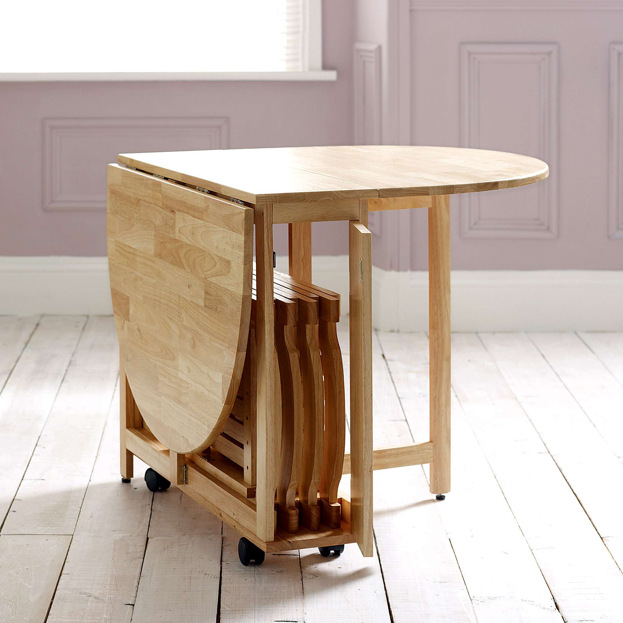 small folding kitchen table and chairs photo - 6