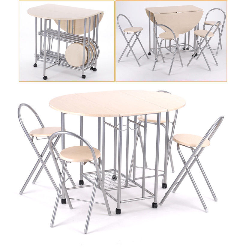 small folding kitchen table and chairs photo - 7