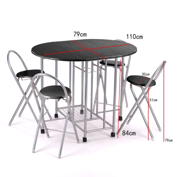 small folding kitchen table and chairs photo - 8