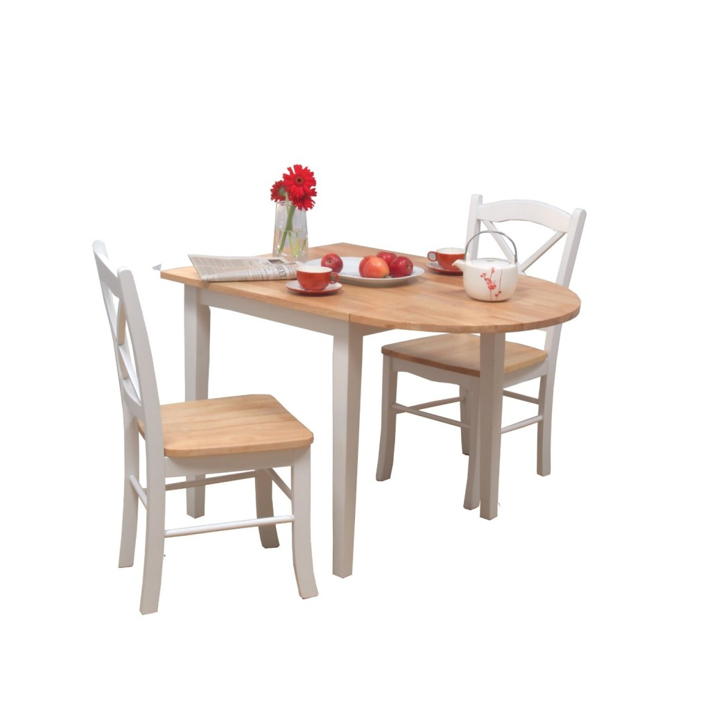 small folding kitchen table and chairs photo - 9