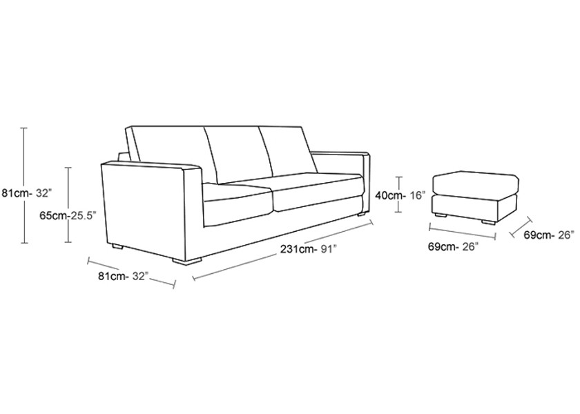 small sectional sofa dimensions photo - 4