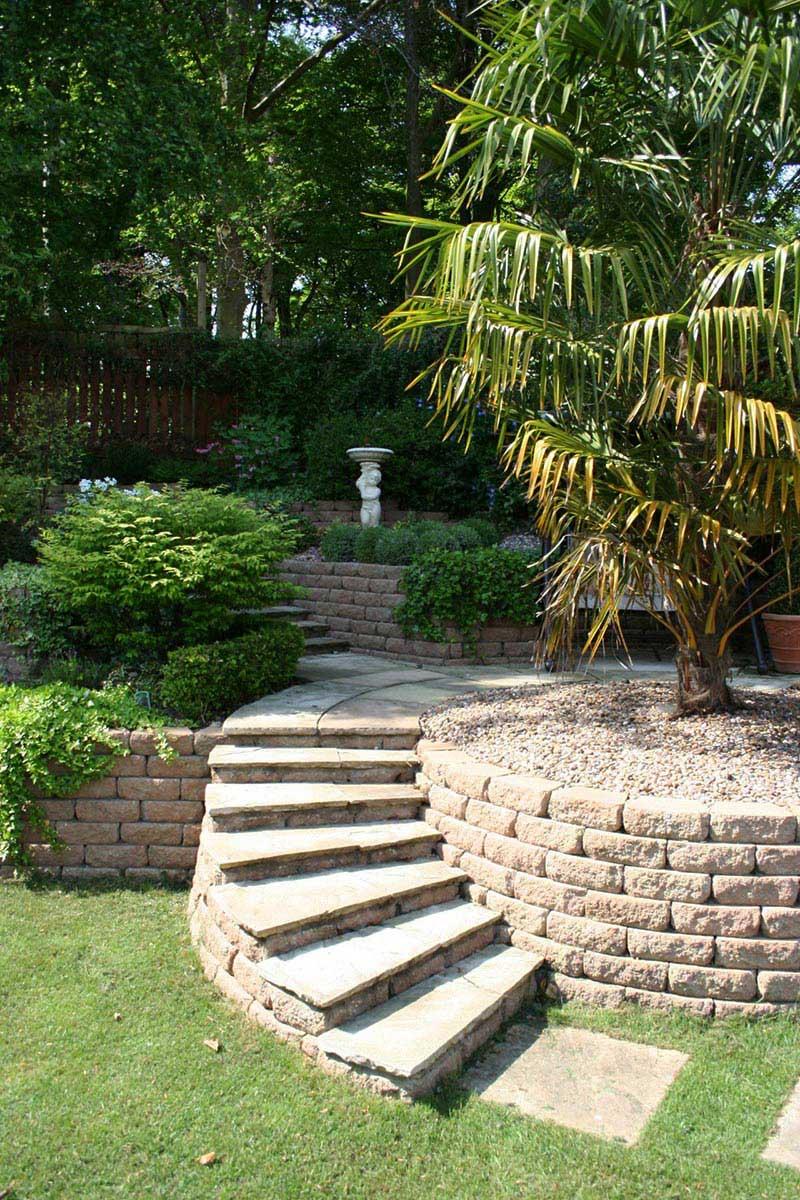 small sloped garden ideas photo - 3