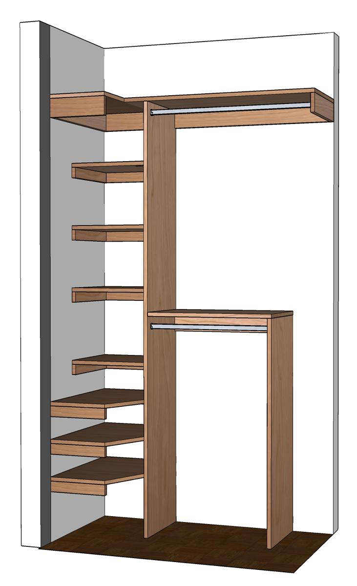 Small walk in closet design layout | Hawk Haven