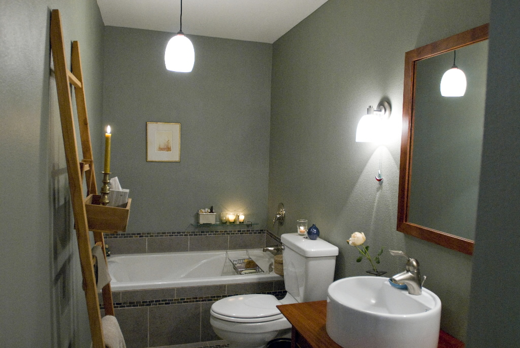 spa bathroom color schemes photo - 3