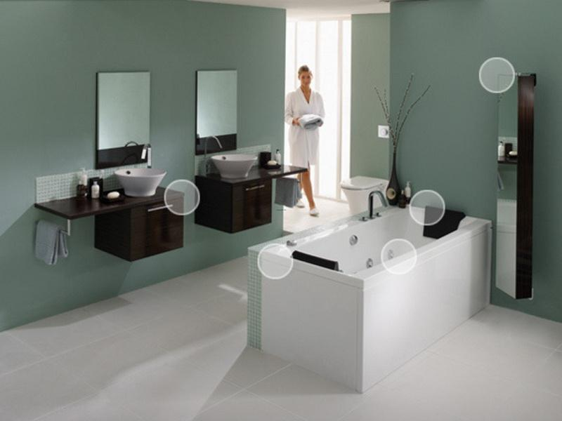 spa bathroom color schemes photo - 4