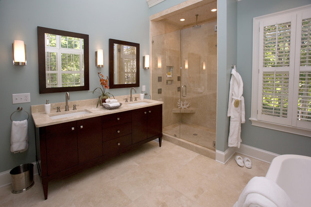 spa bathroom color schemes photo - 5