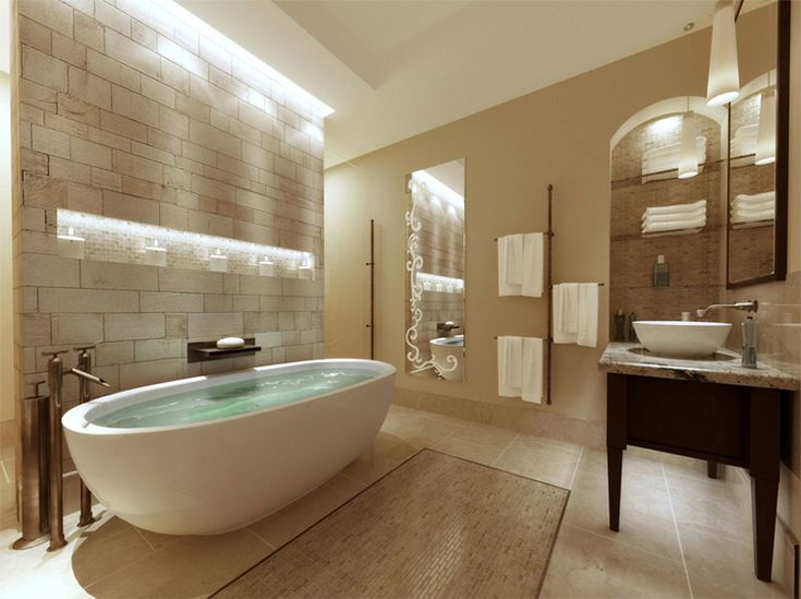 spa bathroom color schemes photo - 6