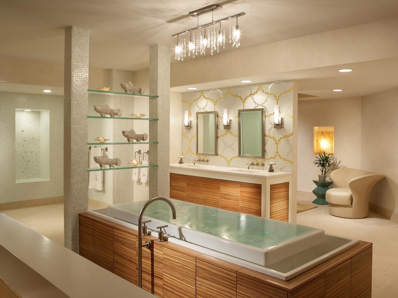 spa bathroom lighting photo - 1