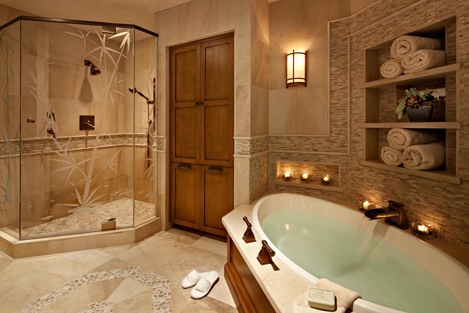 spa bathroom remodel photo - 2