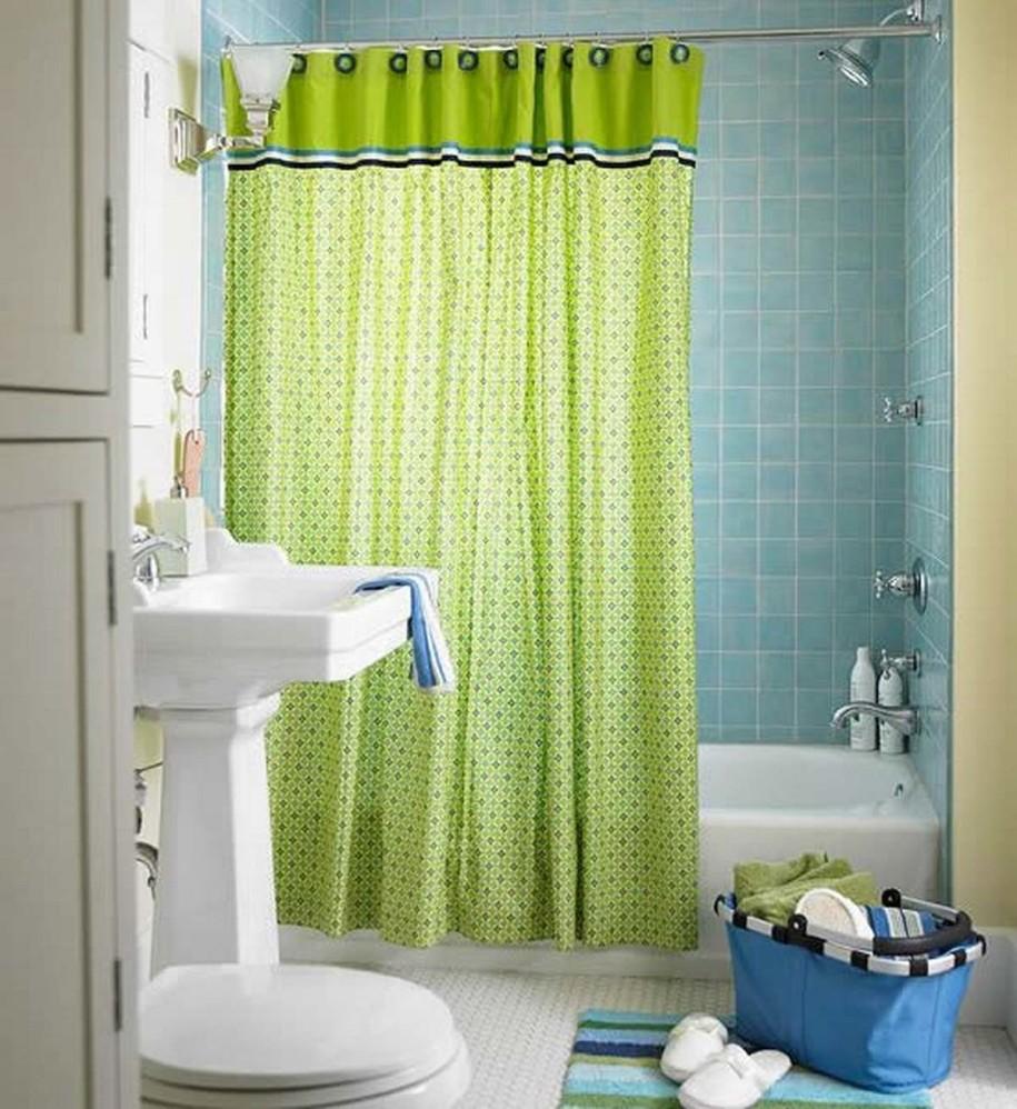 spa bathroom shower curtains photo - 3