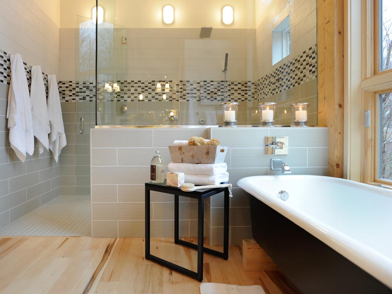 spa bathroom shower ideas photo - 2