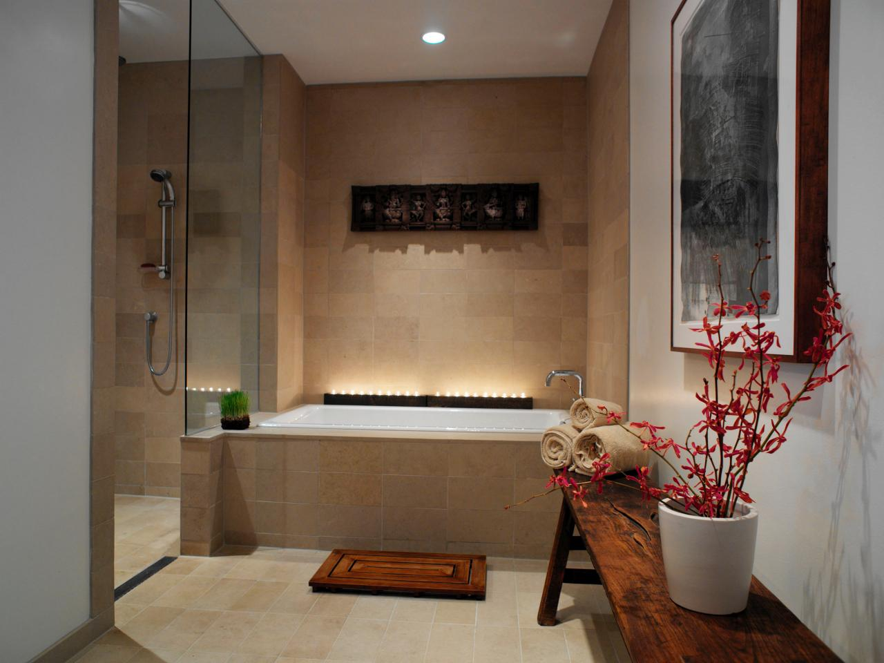 spa bathroom shower ideas photo - 7
