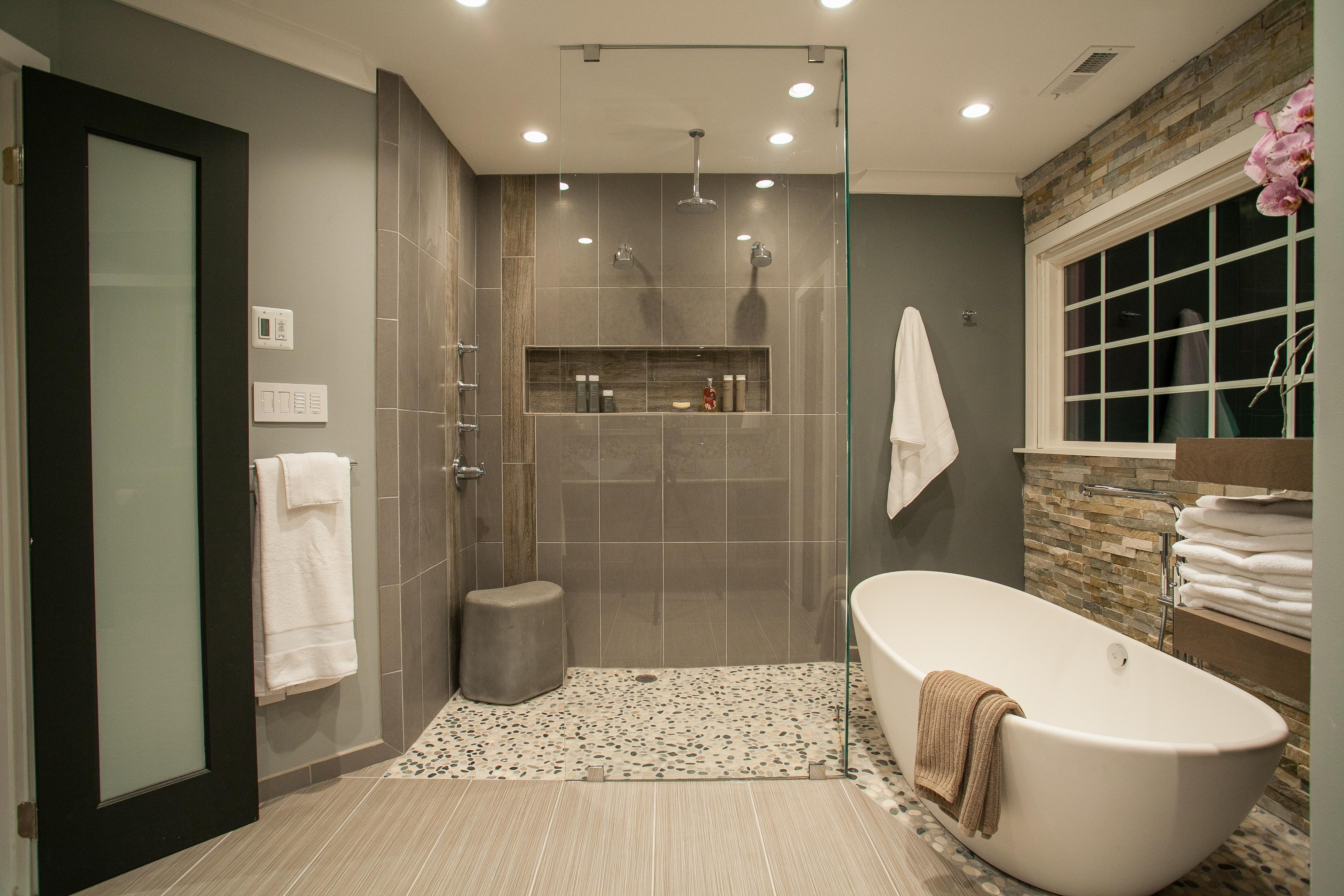 spa bathroom shower ideas photo - 9