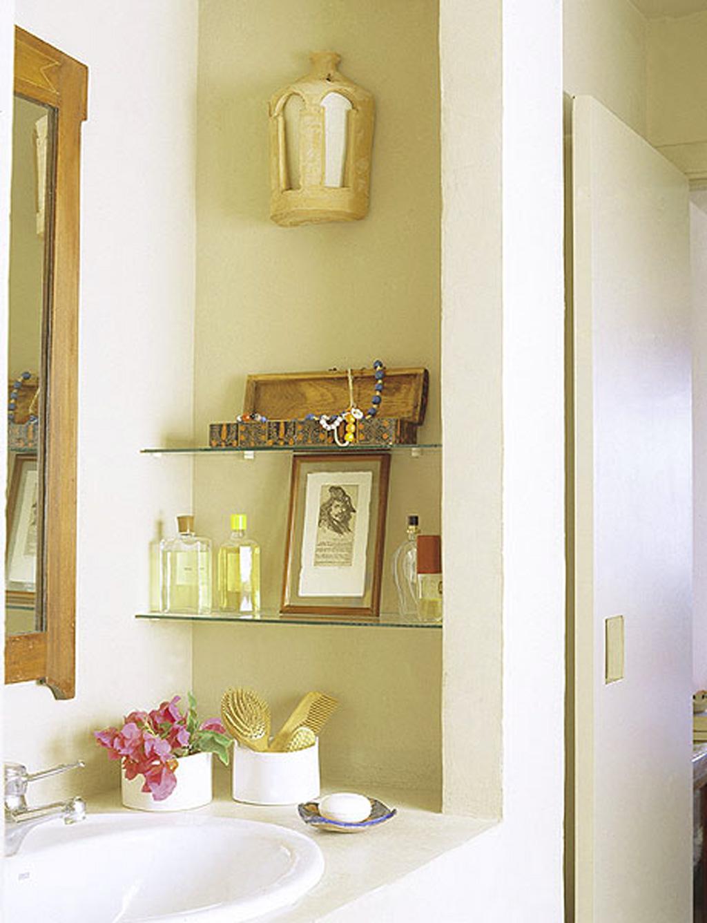 spa bathroom storage photo - 1