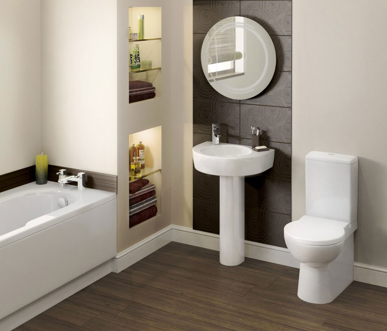 spa bathroom storage photo - 3