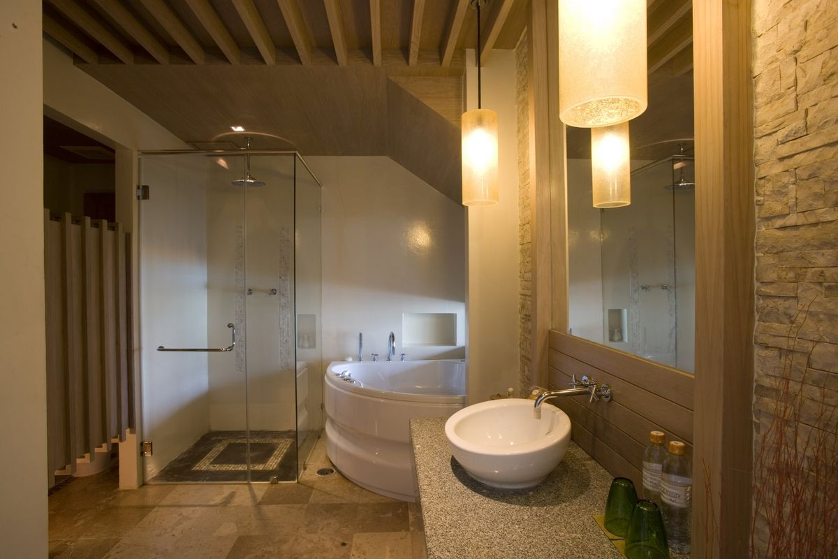 spa bathroom tile ideas photo - 7